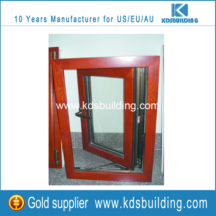 Outer and inter parsts of aluminum cladding wooden windows for Window design outer