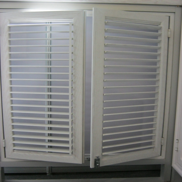 Power Coated White Aluminum Cheap Window Shutters European Style