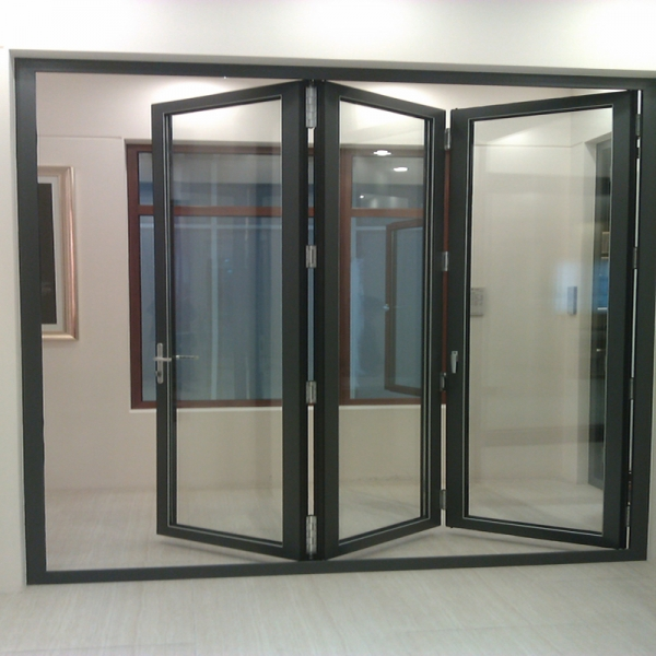 Double glazing aluminum folding sliding door exterior for Double sliding doors exterior