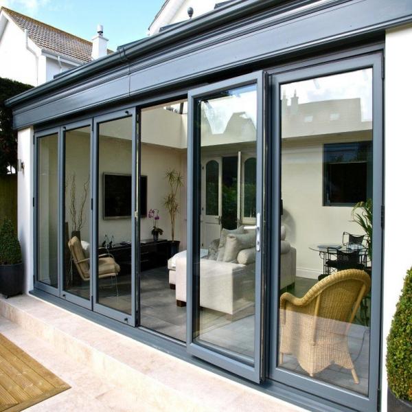 Energy Saving Aluminum Bi Fold Patio Doors Exterior