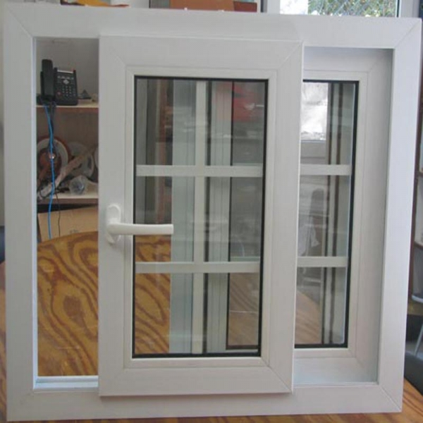 Safety double glazing pvc windows german roller shutter for Window in german