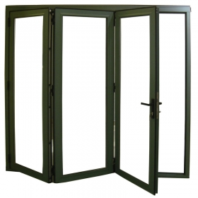 power coated folding door
