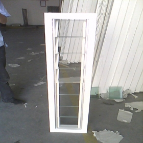 aluminum fixed glass shutter