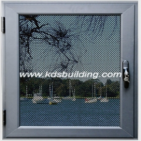 casement window with fiberglass
