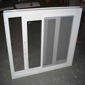 sliding window with mosquito netting