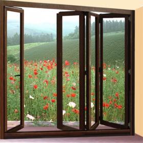 European Folding Interior French Doors