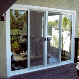 white french sliding doors