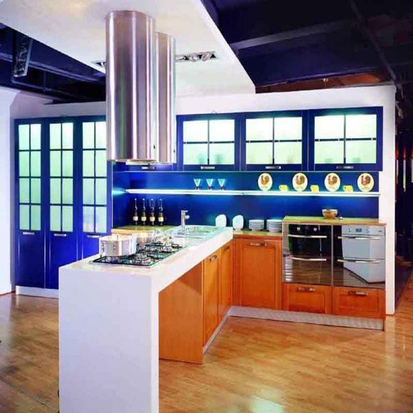 Economic larquer chinese kitchen cabinets modern wood for Economic kitchen designs