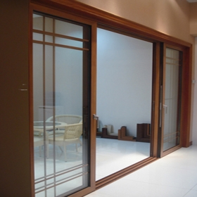 sliding door with grills