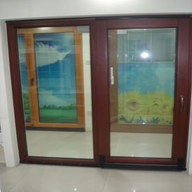 wood sliding french doors