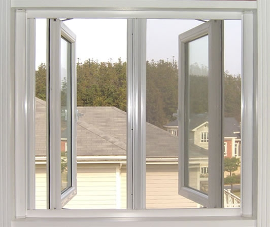 double panels swing outside casement window