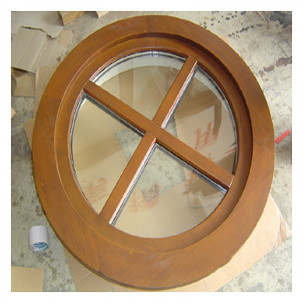 house round wooden windows frames solid wood exterior doors