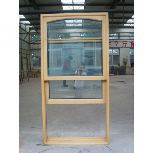 wood double hung window