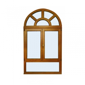 arched casement solid wood window