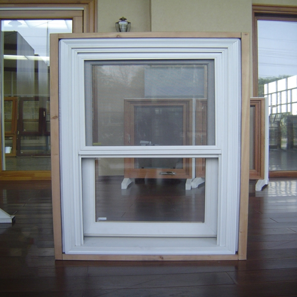 double hung wood window