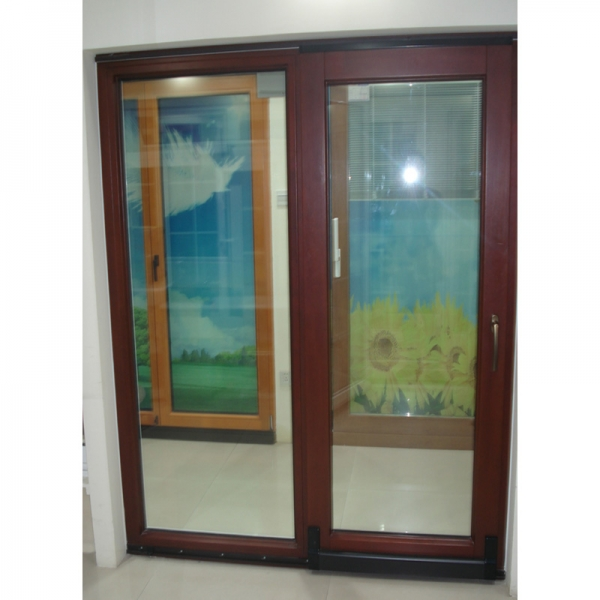 Tempered glass tilt and sliding front doors solid wood for Solid glass exterior door