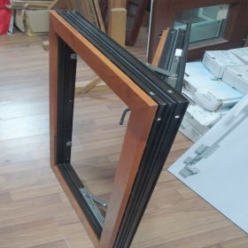 solid wood clad alu window