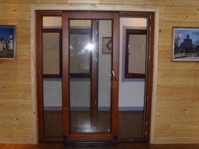 sliding solid wood window