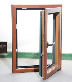 Hot sale aluminum clad wood casement windows sliding glass for Wood replacement windows manufacturers