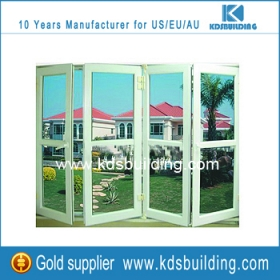 roto hardware aluminium profile folding windows in white color