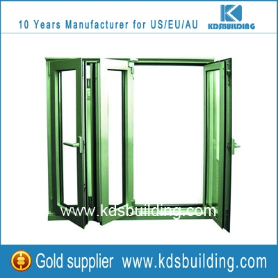 Modern design frame folding glass windows with dafety lock