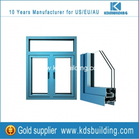 Aluminum profile fixed windows with double clear glazing online