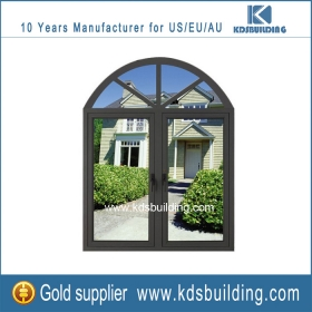 Aluminum fixed arch windows with side opening design for picture decoration online