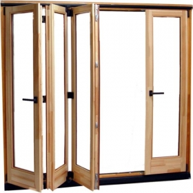 solid wood folding door